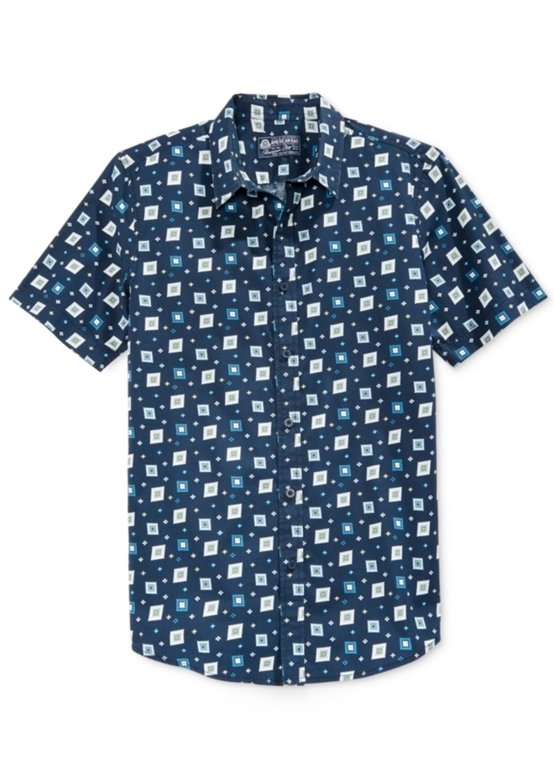 American Rag Men's Printed Short-Sleeve Shirt, Only at Macy's