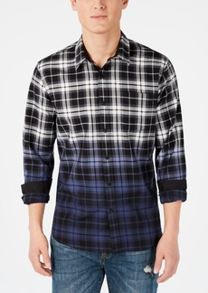 American Rag Men's Joel Dip Dye Plaid Shirt