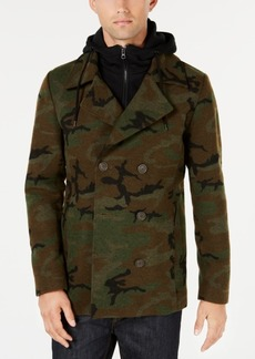 American Rag Men's Layered Camo Peacoat, Created for Macy's