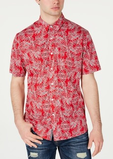 American Rag Men's Leaf Lines Shirt, Created for Macy's