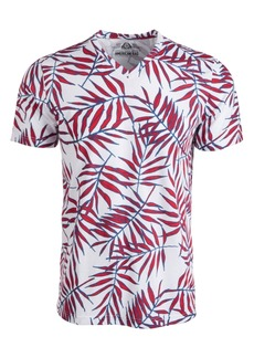 American Rag Men's Leaf Lines V-Neck T-Shirt, Created by Macy's