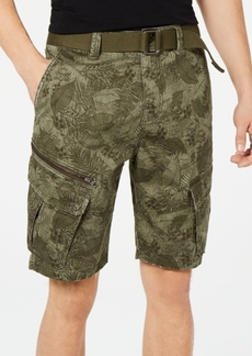 "American Rag Men's Leaf Print 10"" Cargo Shorts, Created for Macy's"