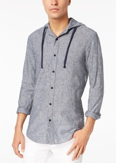 American Rag Men's Linen Hooded Shirt, Created for Macy's