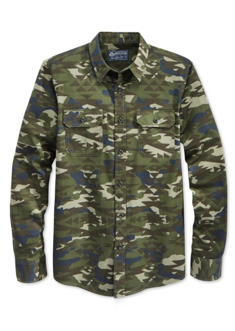 American Rag Men's Long-Sleeve Camo-Print Eli Shirt, Only at Macy's