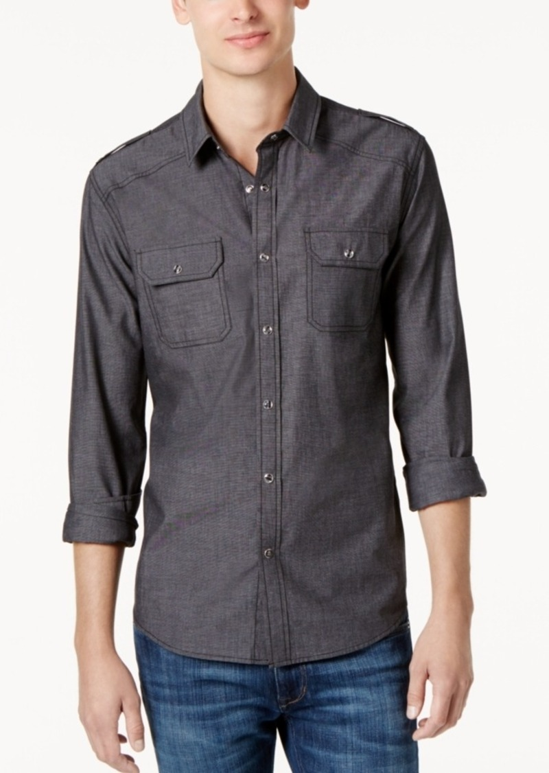 American Rag Men's Chambray Button Down Shirt, Created for Macy's