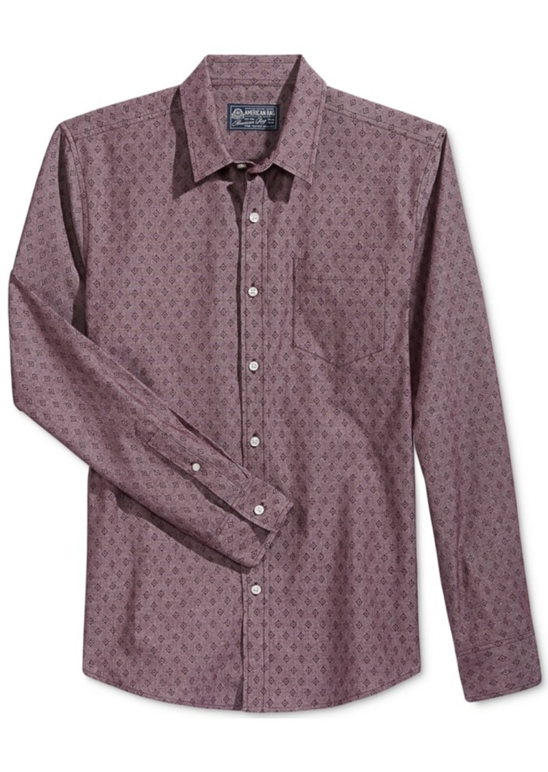 American Rag Men's Long-Sleeve Starburst Shirt, Only at Macy's