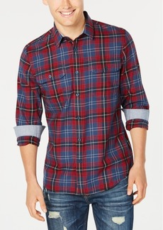 American Rag Men's Mickey Plaid Twill Shirt, Created for Macy's