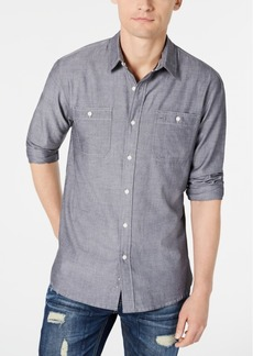 American Rag Men's Micro Herringbone Shirt, Created for Macy's