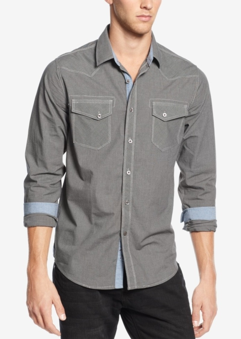 American Rag Men's Houndstooth Shirt, Created for Macy's