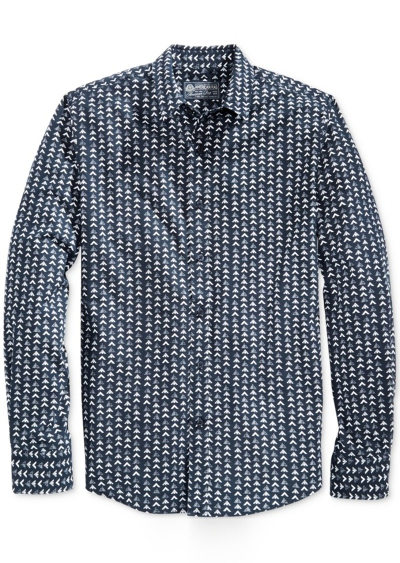 American Rag Men's Mountain-Print Long-Sleeve Shirt, Only at Macy's