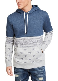 American Rag Men's Paisley Blocked Hoodie, Created For Macy's