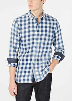 American Rag Men's Peridot Check Shirt, Created for Macy's