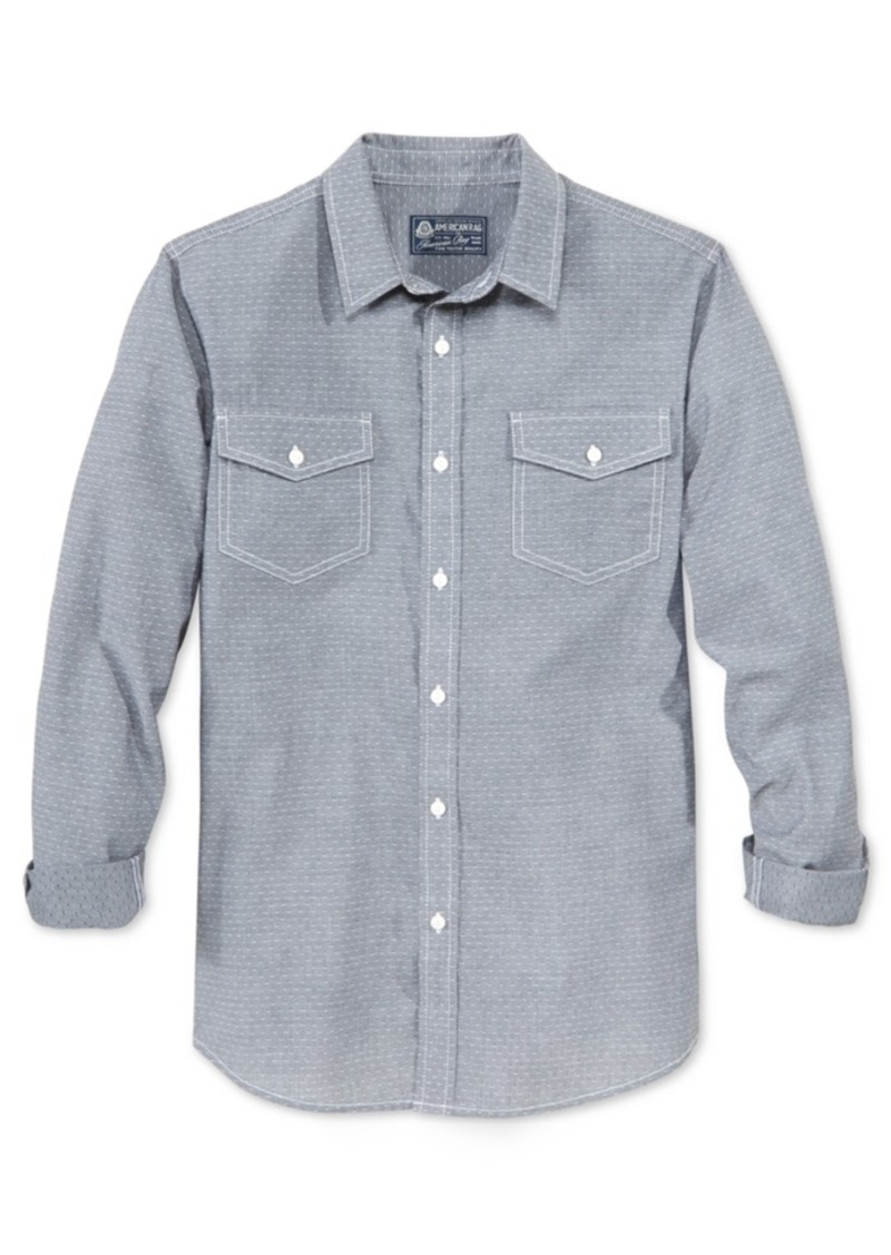 American Rag Men's Pick-Stitch Long-Sleeve Shirt, Only at Macy's