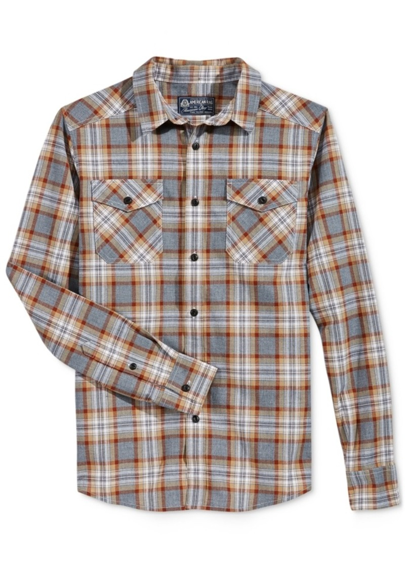 American Rag Men's Plaid Long-Sleeve Shirt, Only at Macy's