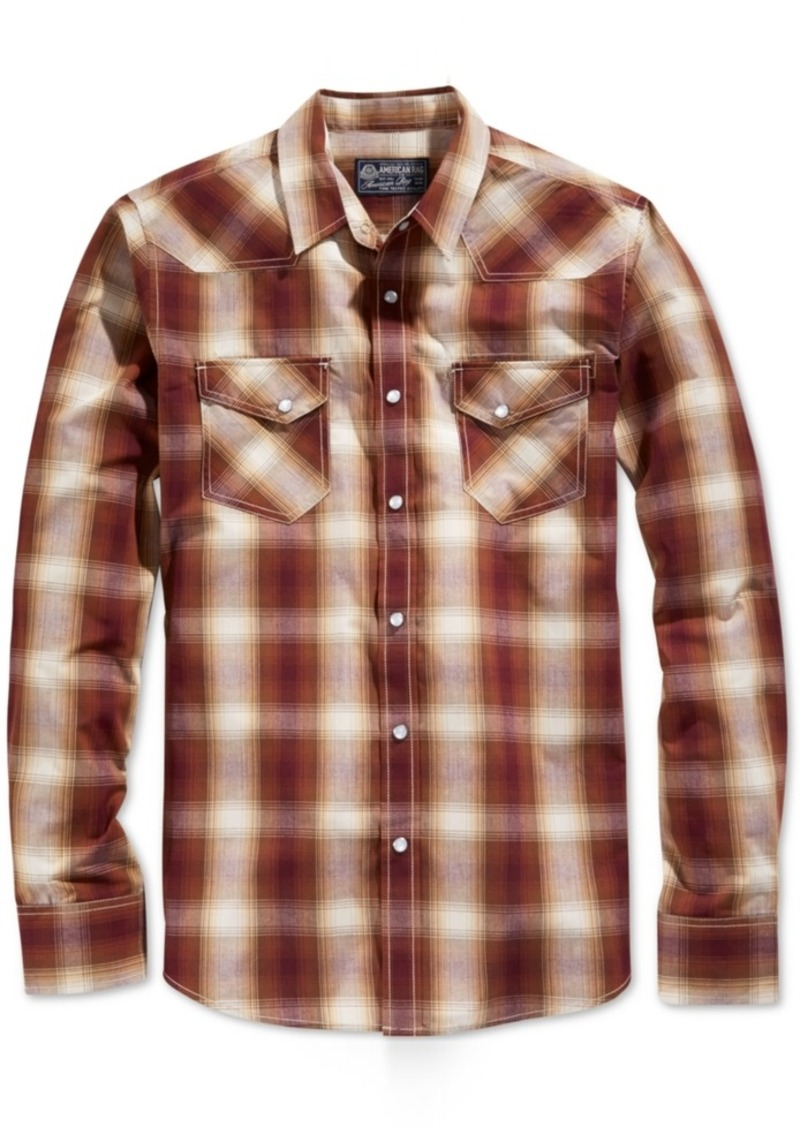 American Rag Men's Plaid Long-Sleeve Shirt, Only at Macy's