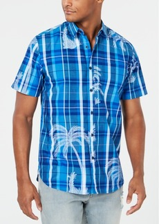 American Rag Men's Plaid Palm Shirt, Created for Macy's