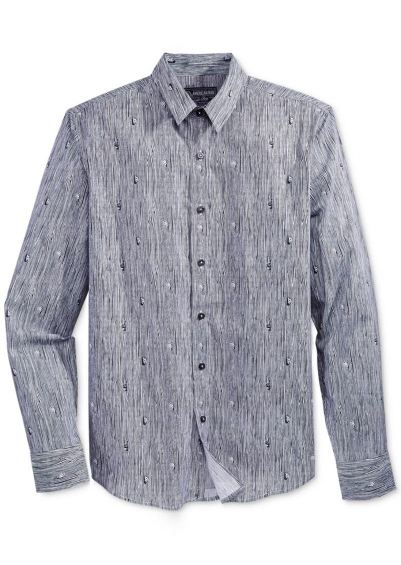American Rag Men's Printed Long-Sleeve Shirt, Only at Macy's