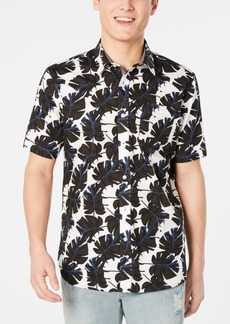 American Rag Men's Regular-Fit Leaf-Print Shirt, Created for Macy's
