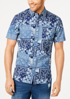 American Rag Men's Regular-Fit Patchwork-Print Shirt, Created for Macy's