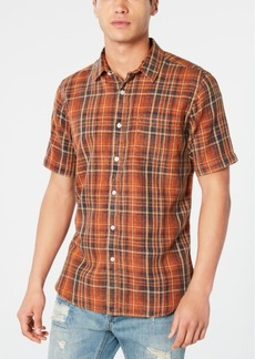 American Rag Men's Regular-Fit Plaid Shirt, Created for Macy's