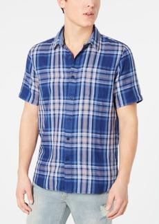 American Rag Men's Regular-Fit Plaid Shirt, Created for Macy's