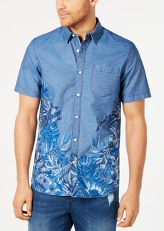 American Rag Men's Regular-Fit Tropical Floral-Print Shirt, Created for Macy's