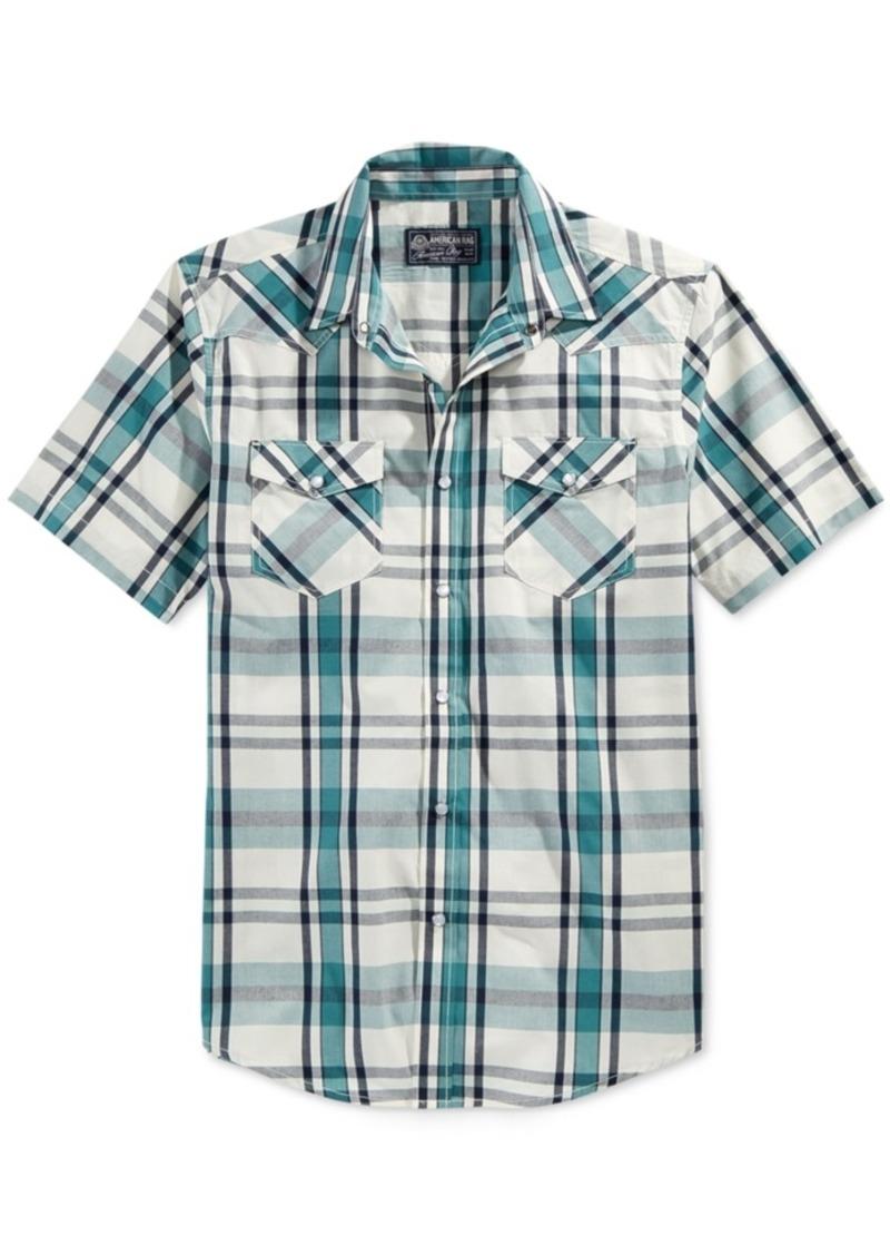 American Rag Men's Short Sleeve Plaid Shirt, Only at Macy's