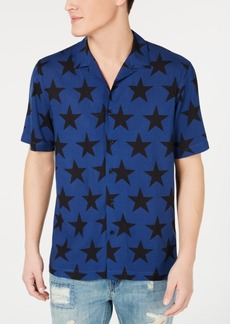 American Rag Men's Star Print Camp Collar Shirt, Created for Macy's