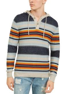 American Rag Men's Striped Henley Hoodie, Created For Macy's