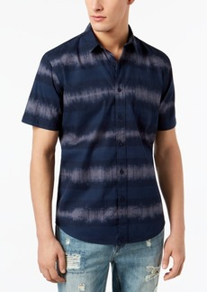 American Rag Men's Striped Tie Dye Shirt, Created for Macy's