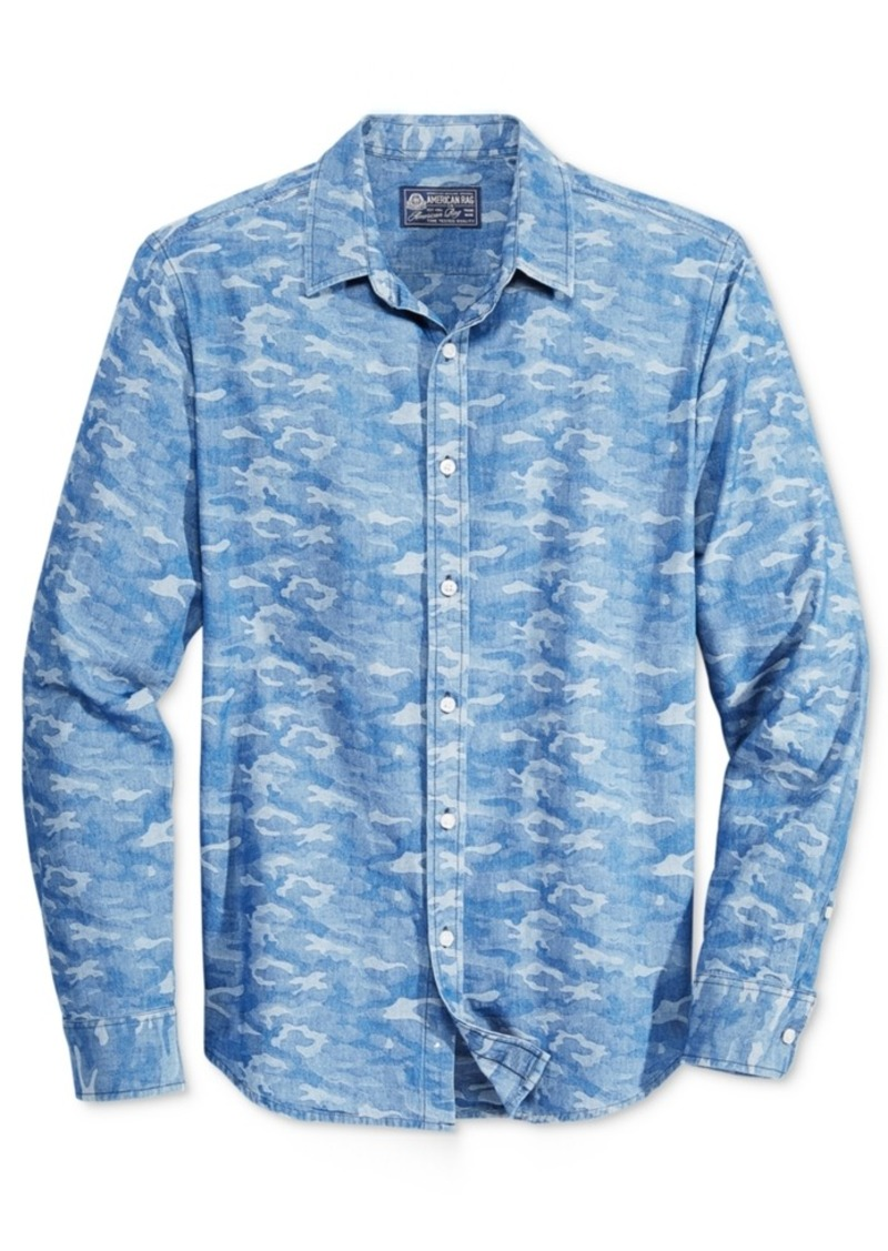 American Rag Men's Camouflage Long-Sleeve Shirt, Only at Macy's