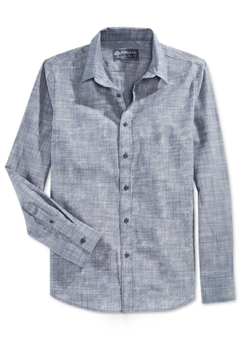 American Rag Men's Textured Print Shirt, Only at Macy's