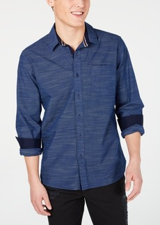 American Rag Men's Textured Striped Shirt, Created for Macy's