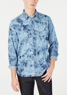 American Rag Men's Tie Dye Denim Shirt, Created for Macy's