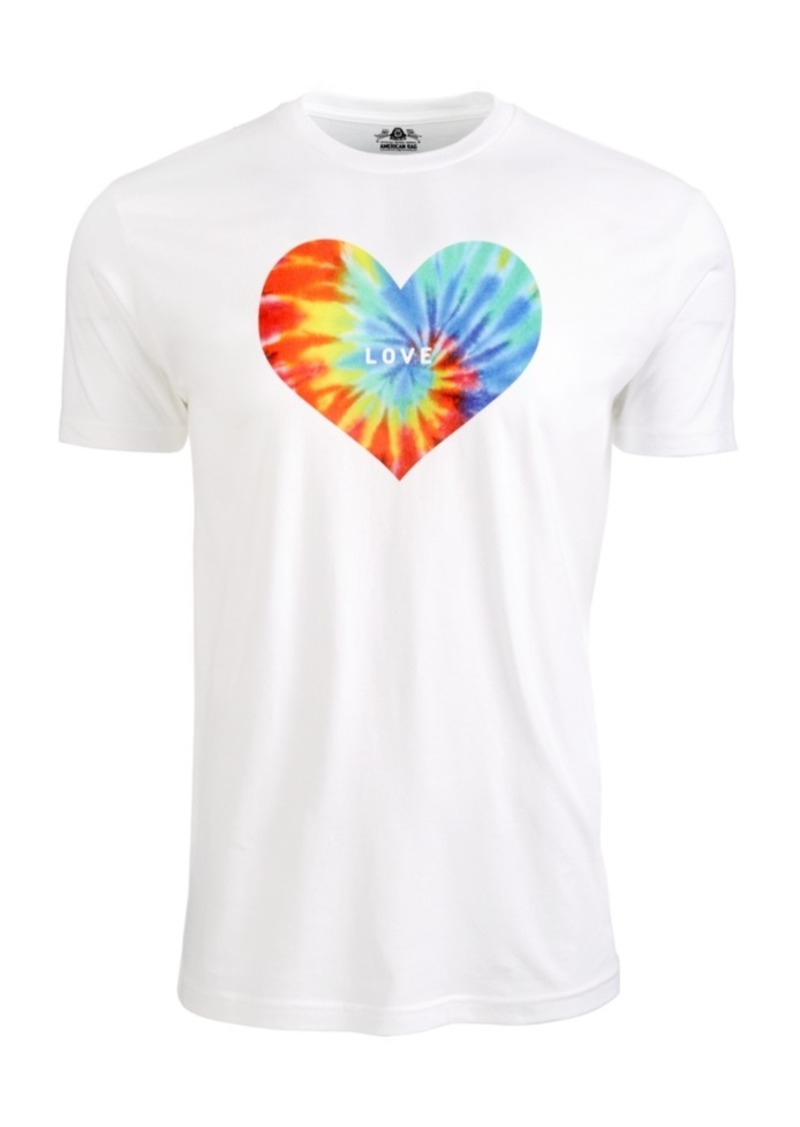 American Rag Men's Tie Dye Heart Graphic T-Shirt, Created For Macy's