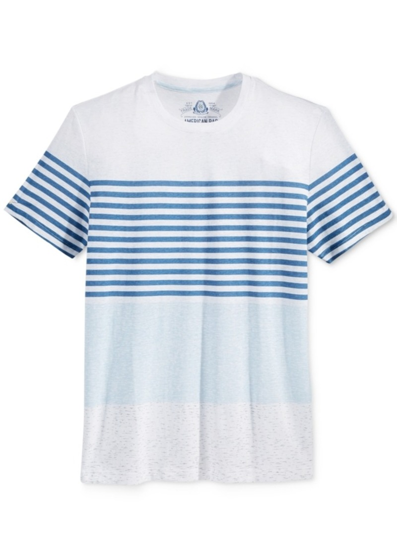 American Rag Men's Tricolor Stripe T-Shirt, Only at Macy's