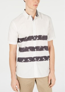 American Rag Men's Triple Stripe Tropical Shirt, Created for Macy's