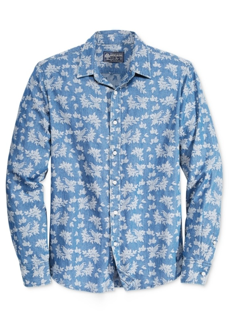 American Rag Men's Tropical-Print Long-Sleeve Shirt, Only at Macy's