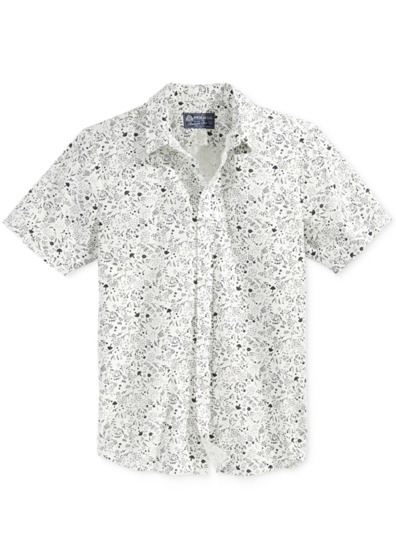 American Rag Men's Twigs Graphic-Print Short-Sleeve Shirt, Only at Macy's