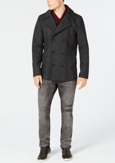 American Rag Men's Wool Blend Peacoat with Removable Hood and Bib, Created for Macy's
