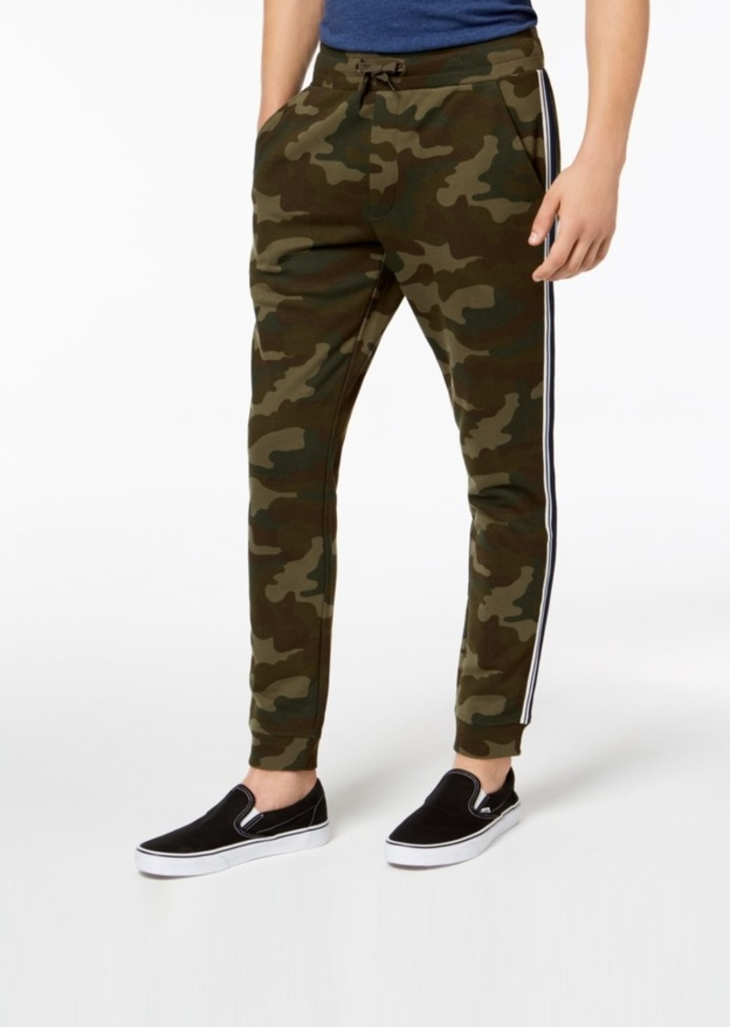 American Rag Men's Varsity Tipped Camo Jogger Pants, Created for Macy's