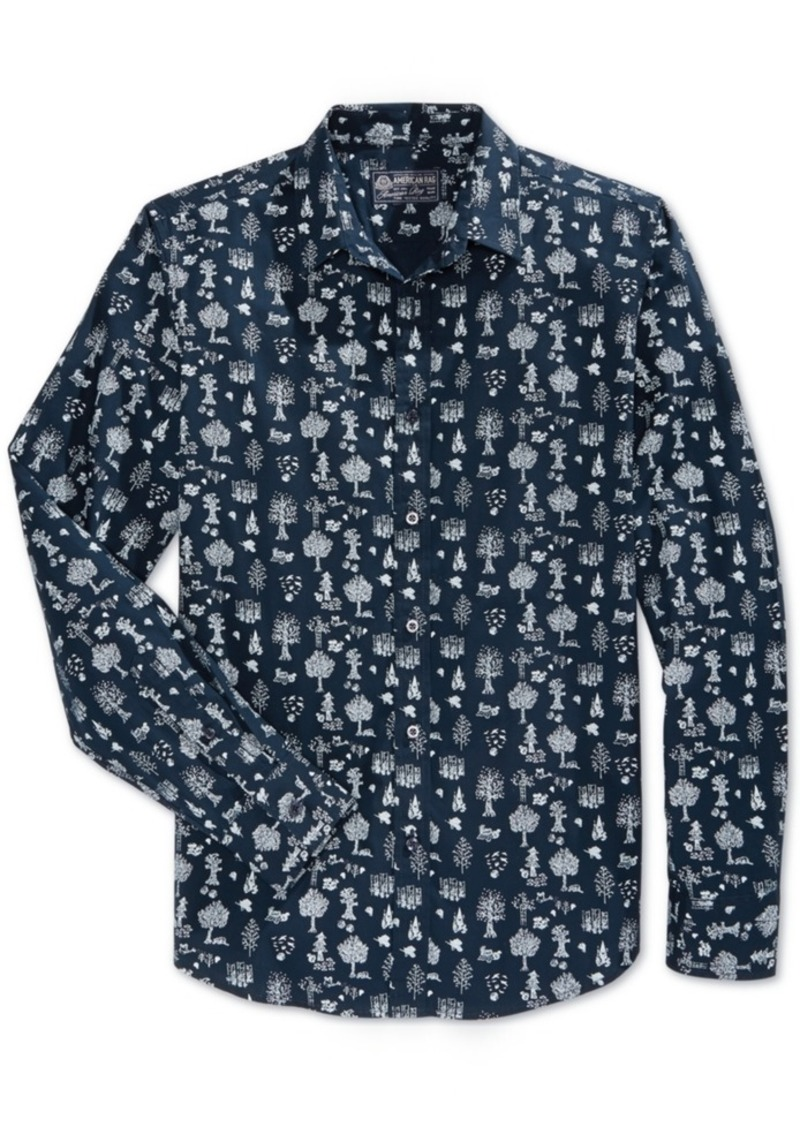 American Rag Men's Woodlands Long-Sleeve Shirt, Only at Macy's