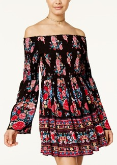 American Rag Off-The-Shoulder Floral-Print Fit & Flare Dress, Only at Macy's