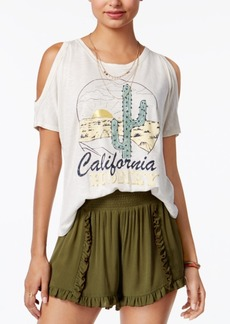 American Rag Off-The-Shoulder Graphic T-Shirt, Only at Macy's