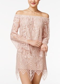 American Rag Off-The-Shoulder Lace Shift Dress, Only at Macy's