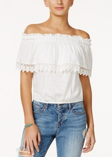 American Rag Off-The-Shoulder Popover Top, Created for Macy's