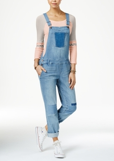 American Rag Patched Malfa Wash Denim Overalls, Only at Macy's