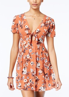 American Rag Printed Front-Tie Fit & Flare Dress, Only at Macy's