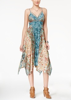 American Rag Printed Handkerchief-Hem Dress, Only at Macy's