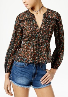 American Rag Printed High-Low Blouse, Only at Macy's